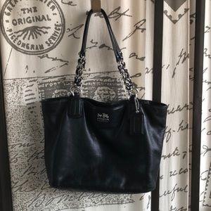 Coach Pebbled Leather Shoulder Bag